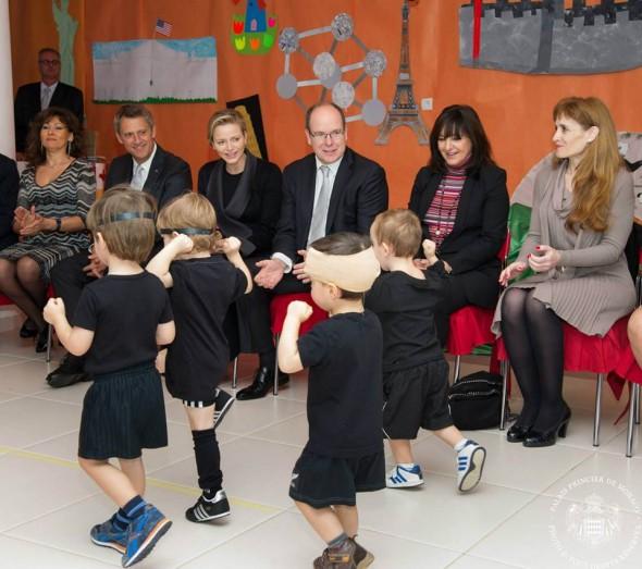 Princess Charlene and Prince Albert of Monaco, Christmas