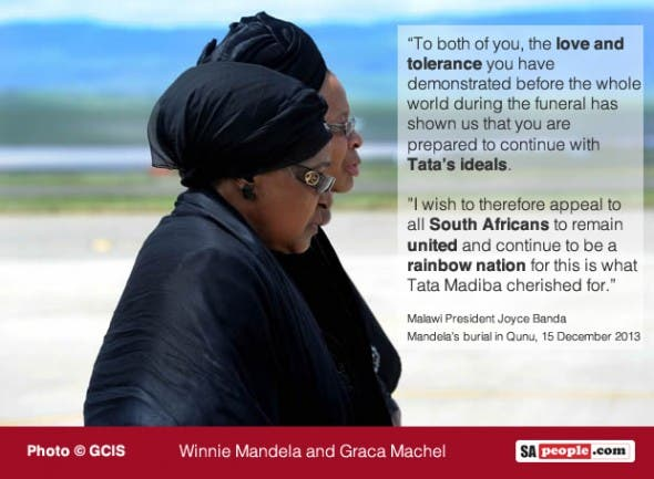 Winnie Mandela and Graca Machel