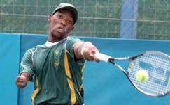 South African star Lucas Sithole is ranked second in the world in the quad division of wheelchair tennis (Photo: University of Pretoria)