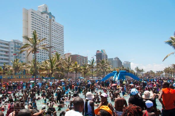 Durban Beach Front on 01 January 2014