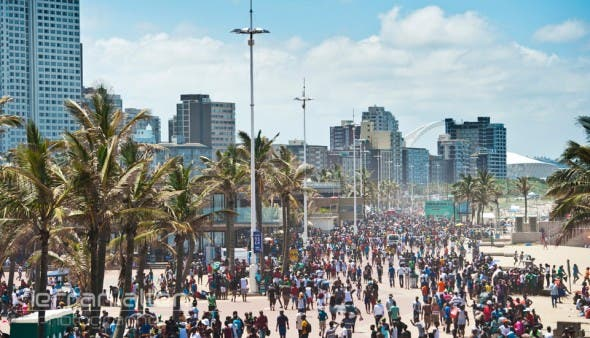 Durban Beachfront on New Year's Day