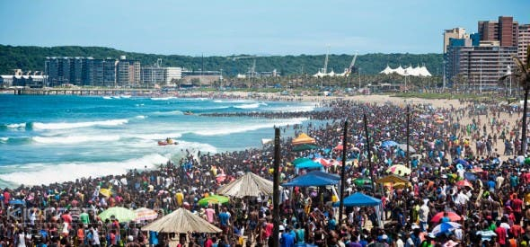 Durban Beach Front New Year's Day