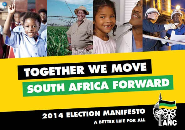 ANC Pledge to Move South Africa Forward Together