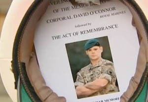 Inside his hat, Craig Buchanan carried a picture of the corporal who lost his life on the patrol.