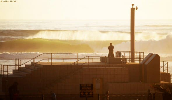 Cyclone Bejisa delivers spectacular sunrise surf in Durban