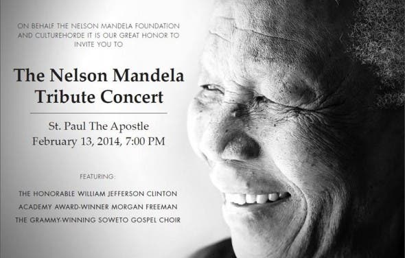 Nelson Mandela Tribute Concert in New York