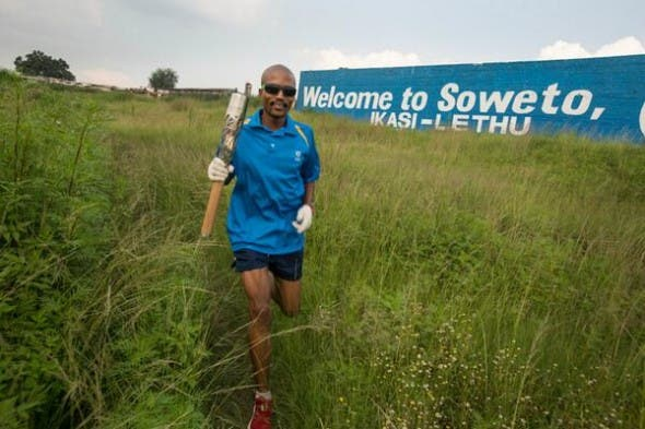 Baton Relay 2014 in South Africa. Pic: Twitter/BatonRelay2014