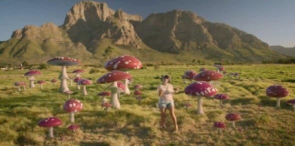Lily Allen dances amongst magic mushrooms in the Cape