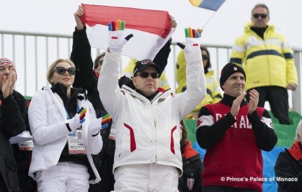 South African Princess Charlene at the Sochi Winter Olympics
