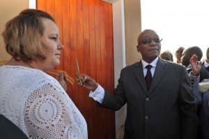President Zuma hands over house