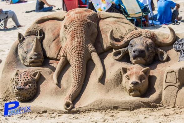 Durban Beach Sand Art