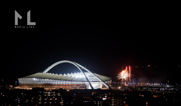 Durban stadium at night