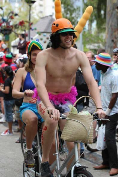 World Naked bikers run Cape Town Pic: Simon's Pics