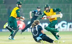 After a win over previously unbeaten New Zealand, the South African women's cricket team qualified for the semi-finals of the ICC Women's World Twenty20 for the first time, Sylhet, Bangladesh, 31 March 2014 (Photo: Cricket South Africa)