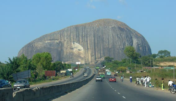 Zuma Rock in Nigeria.