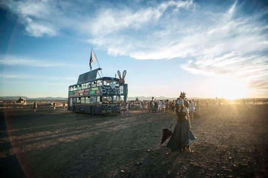 Afrika Burn Party Bus, Photograph by David Donde