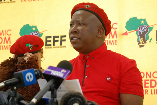 Julius Malema EFF. Source: effighters.org.za/