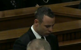 Oscar Pistorius in court today, Monday 12 May 2014