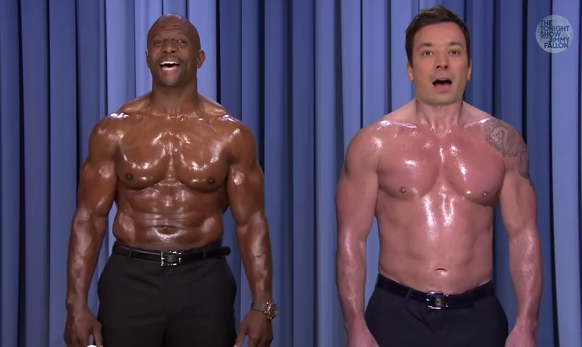 Jimmy Fallon and his body double