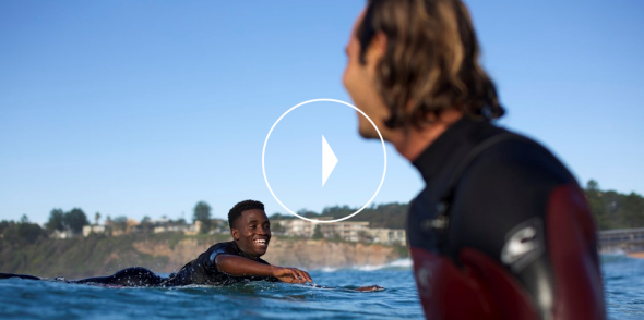 Jordy and Sihle sharing some waves.