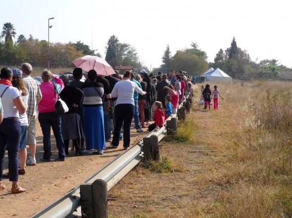 Voting today in Paulshof, Gauteng. Photo: Leonie B-T