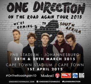 1D heading for South Africa