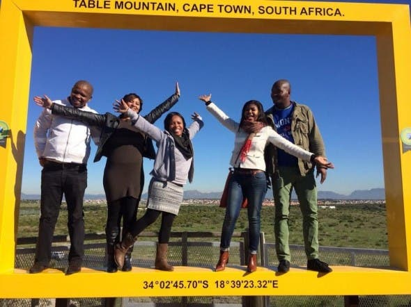 Tourism Department staff get a picture perfect shot at the launch.