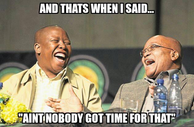 Malema and Zuma, South Africa