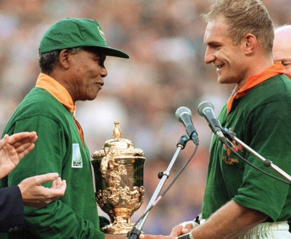 One of the most cherised memories in South African history (Source: rugbyworldcup.com)