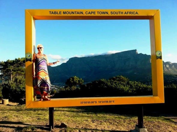 Cape Town Youve Been Framed Yellow Frames For Table Mountain