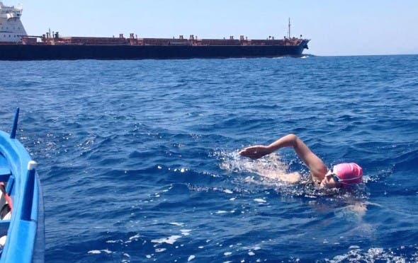 Carina swims Messina Straits