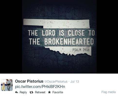 Oscar Pistorius tweet