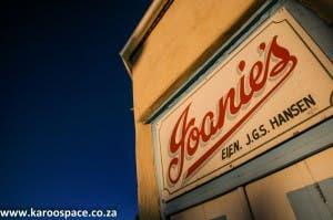 Joanie's shop in Fraserburg, western Karoo.