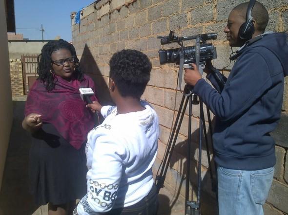 Malaika interviewed on TV