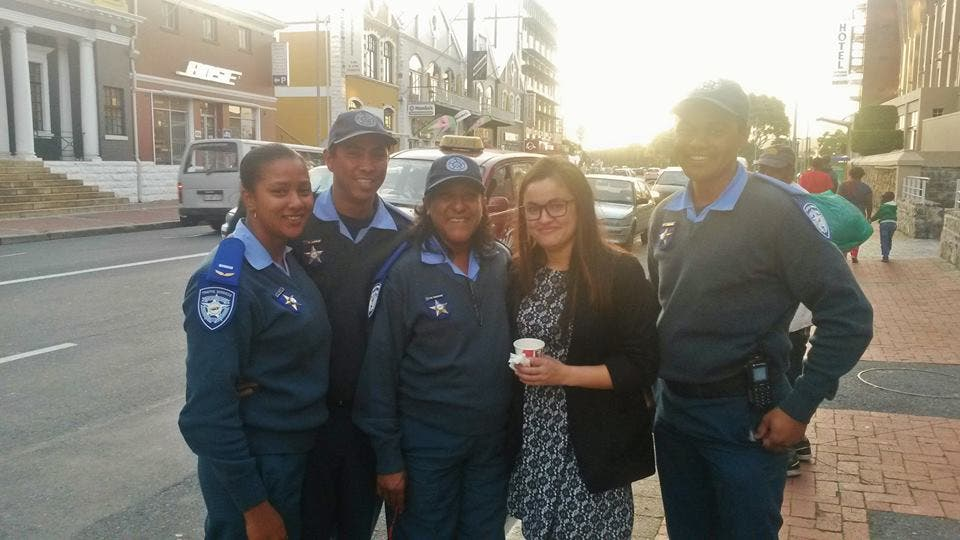 South African policemen