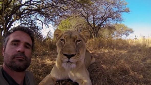 Lion Whisperer selfie