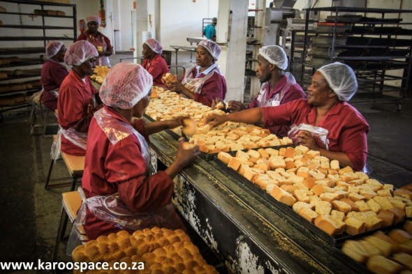 The Ouma Rusk factory is the biggest employer in Molteno.