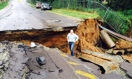 Pothole on Coleraine