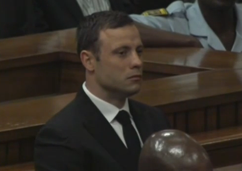 Oscar Pistorius today in court