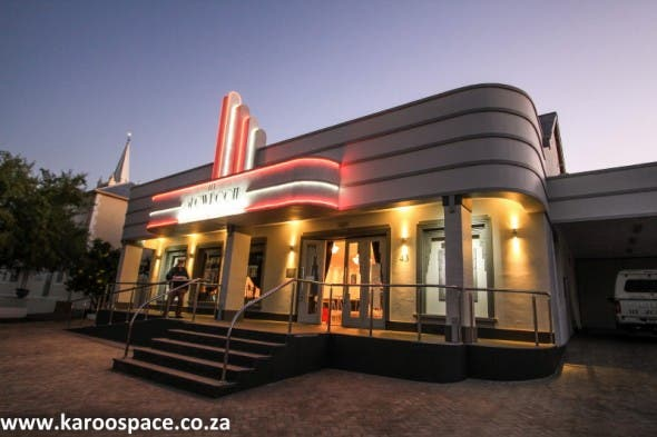 Prince Albert's brand-new Showroom Theatre - Art Deco in the Karoo.