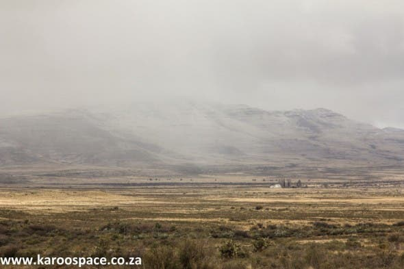 The isolation of a Karoo farm in a snowfall - just like parts of Montana, USA.