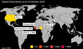 Ebola World Map