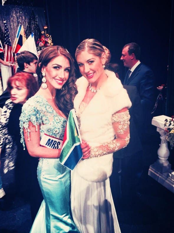 Mrs South Africa in the USA with Joani Johnson. Source: FB