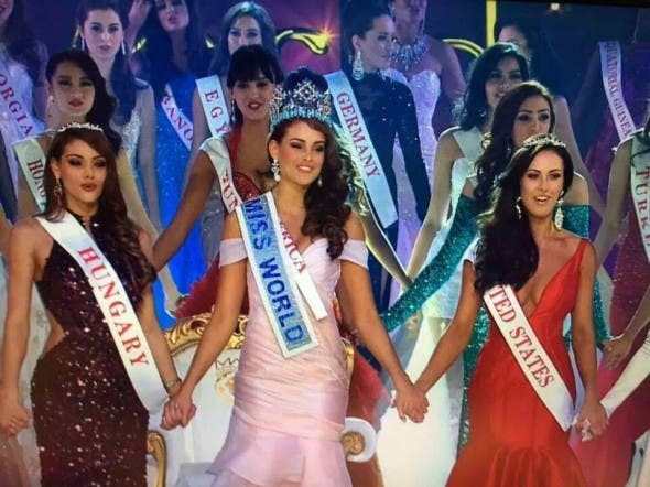 Miss World Rolene Strauss from South Africa