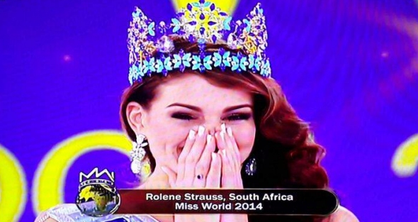 Miss World 2014 is SOUTH AFRICA! Congratulations Rolene