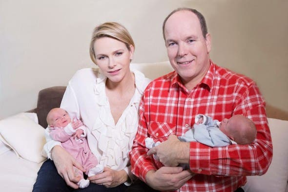 First official Monaco photos of royal couple with twins