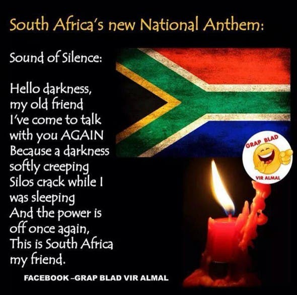 South African Jokes And Lightheartedness During Loadshedding