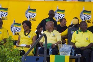 President Jacob Zuma seen at the ANC 103 anniversary celebrations held at the Cape Town Stadium. Source: fb/myanc