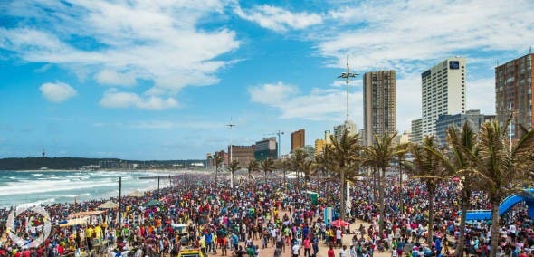 Durban S Beachfront A Colourful Display Of Celebration In