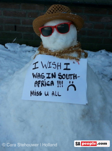 Snowman missing South Africa